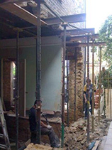 Building house extension in London
