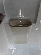 Fixing bathroom sink in London