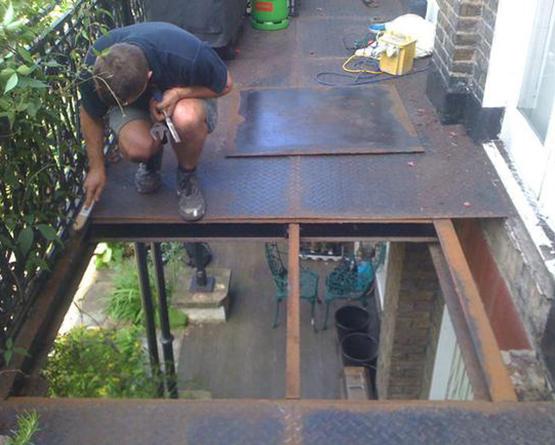 Our handyman on the job