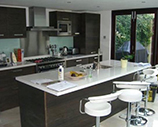 Kitchen island installation