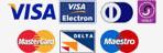 We accept Visa, Visa electron, Masterdcard, Maestro, American Express